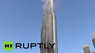 UAE: The Address Hotel continues to billow smoke following NYE blaze