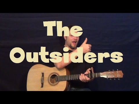 The Outsiders (Eric Church) Easy Strum Guitar Lesson with Licks and Drop D Possibilities