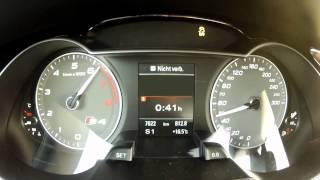 2012 Audi S4 333 PS 0-100 km/h & 0-160 km/h Acceleration