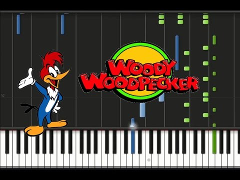 Woody Woodpecker - Theme Song [Synthesia Tutorial] - YouTube