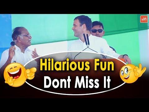 Hilarious Fun in Rahul Gandhi Latest Speech   PJ Kurien   Congress Public Meeting Kerala   YOYO TV