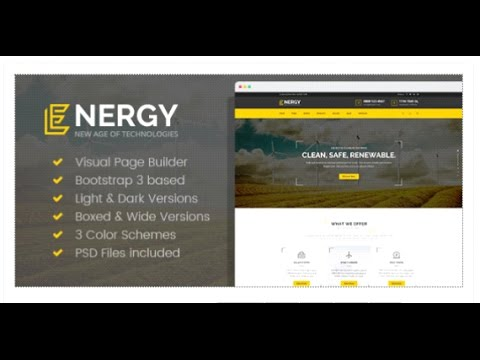 Energy - Renewable Energy and Eco Friendly Technologies HTML  | Themeforest Download
