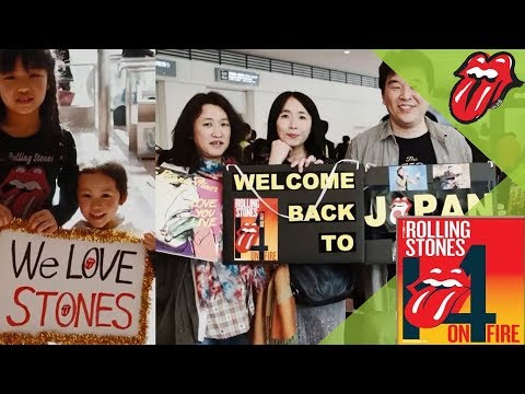 The Rolling Stones arrive in Japan! #ストーンズ来日 14 ON FIRE