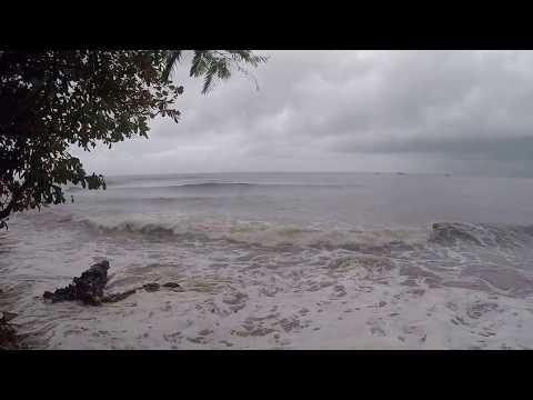Little Corn Island, Nicaragua. Sea Swells Hit Village After Tropical Storm Otto!!