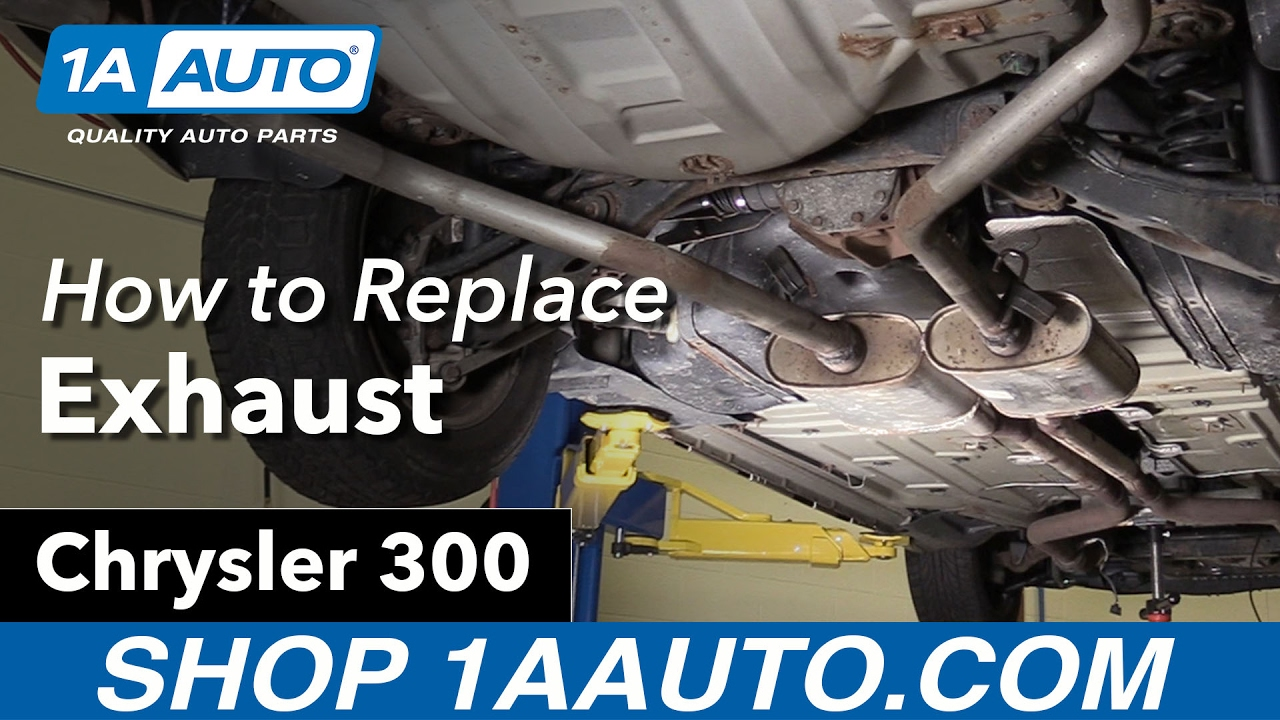 How to Replace Exhaust 05-10 Chrysler 300 - YouTube