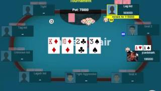 Jonathan Little faces a check-raise on the turn with pocket Aces