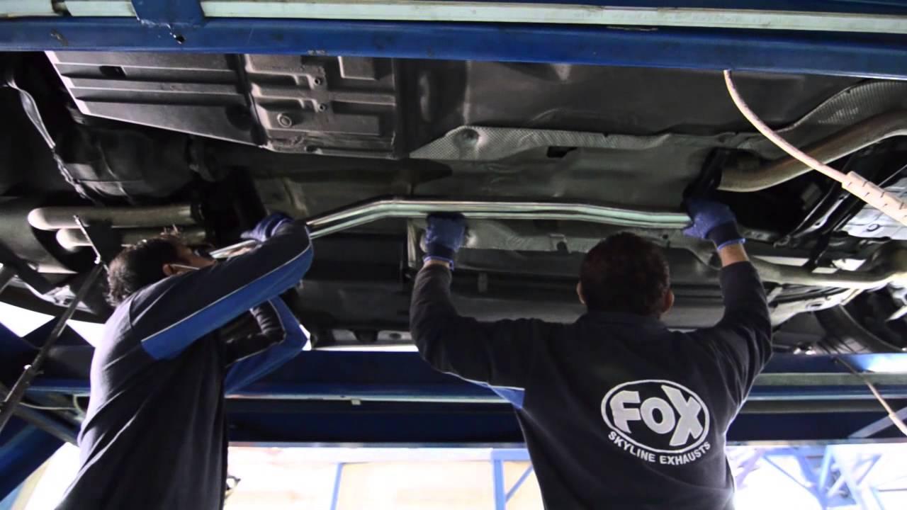 mercedes-benz e55 amg w210 - custom exhaust fitment - youtube