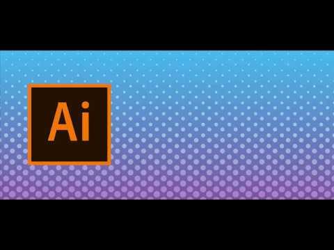Background with circle like halftone . Adobe Illustrator tutorial thumbnail