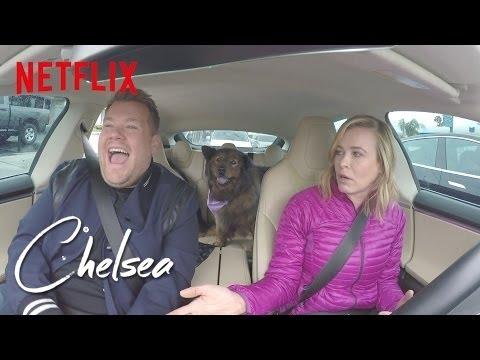 Commuting with James Corden [360 Video] | Chelsea | Netflix