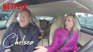 Commuting with James Corden [360 Video] | Chelsea | Netflix