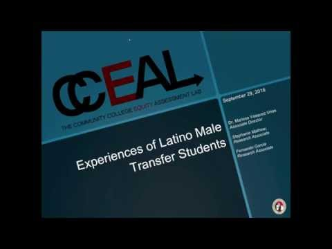 Experience of Latino Male Transfer Students Sep 29, 2016
