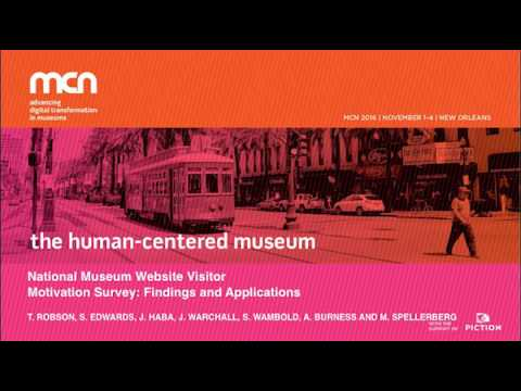 MCN2016 - National Museum Website Vistor Motivation Survey