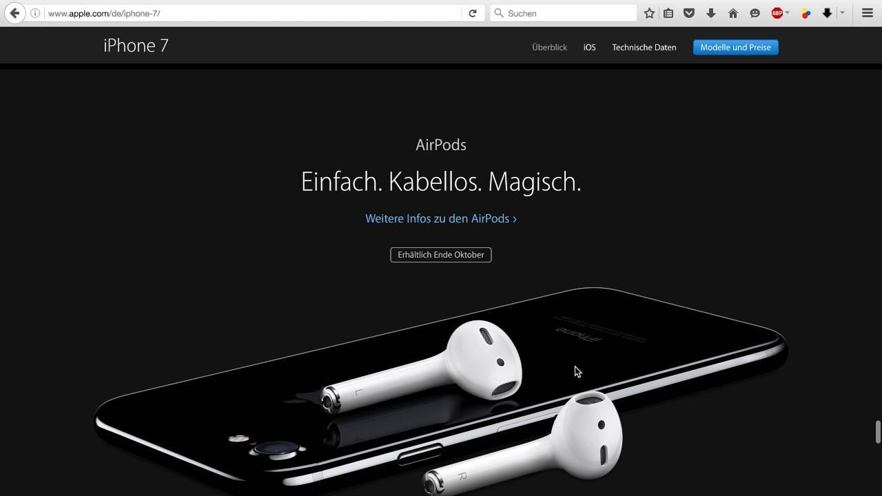 iPhone 7 - Apple Keynote September 2016 [Deutsch/German ...