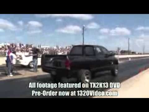 TX2K13   1100hp Truck smokes Supercharged...