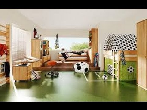 Decoracion de cuartos de futbol de ni os 2 youtube for Cuartos decorados para bebes