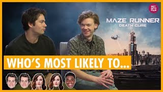 """Maze Runner Cast """"Who's Most Likely"""" - with Dylan O'Brien and Thomas Brodie-Sangster"""