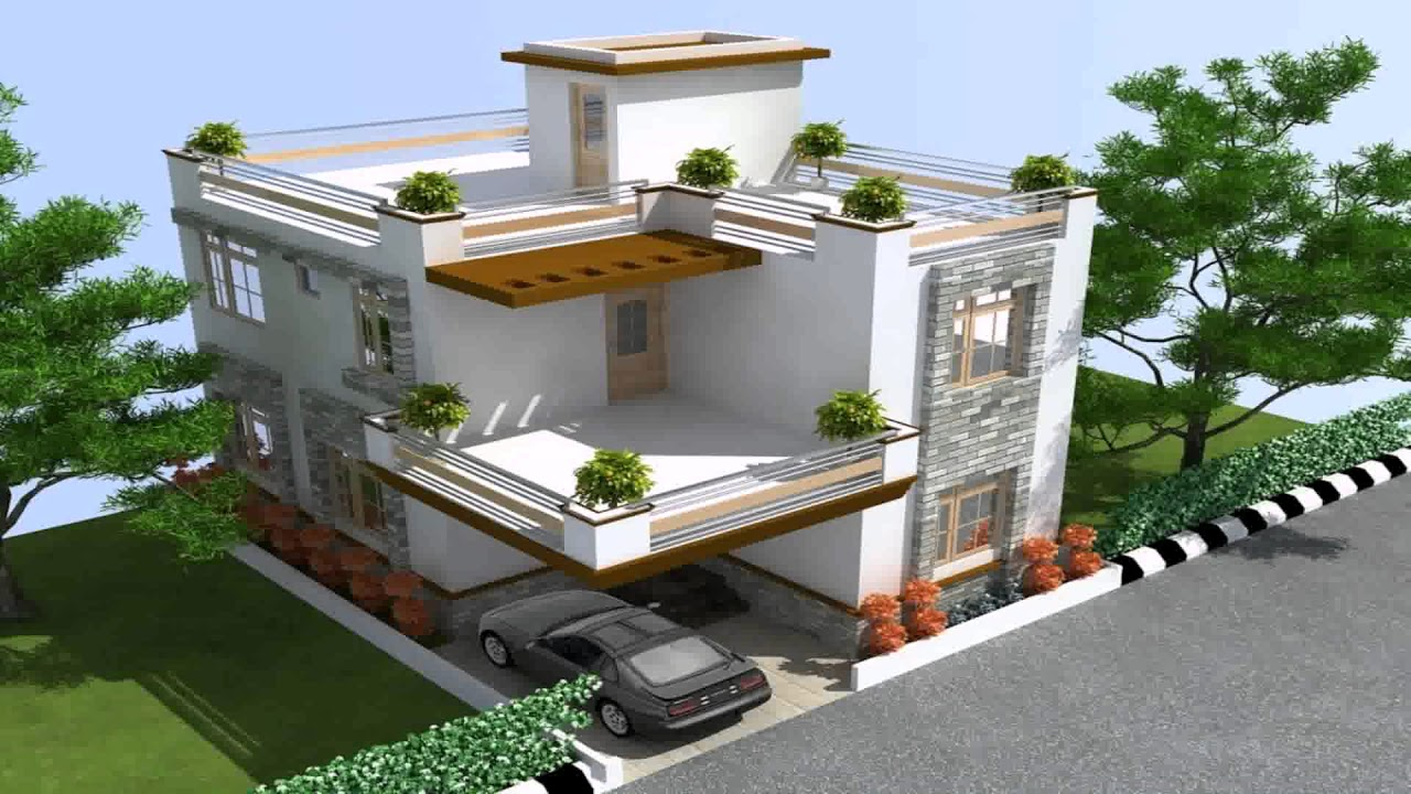 Sample Duplex House Design In India - YouTube
