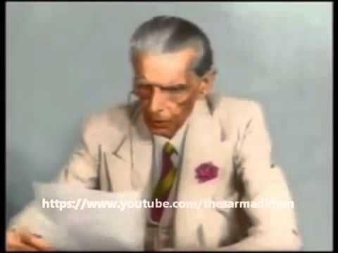 Quaid e Azam Muhammad Ali Jinnah Color Video Speech