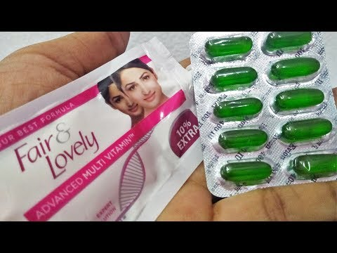 FAIR & LOVELY CREAM & VITAMIN E CAPSULE Natural Beauty Tips for Reduces Dark Circle- Skin Hacks DIY