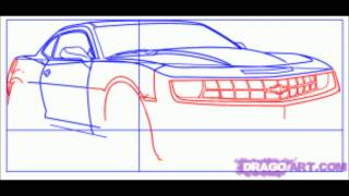 how to draw a camaro?