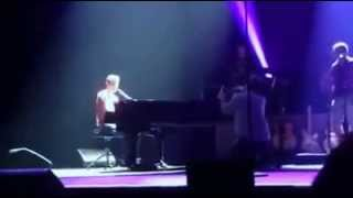Corey Hart sings I am by your side for my wedding Proposal at soundcheck
