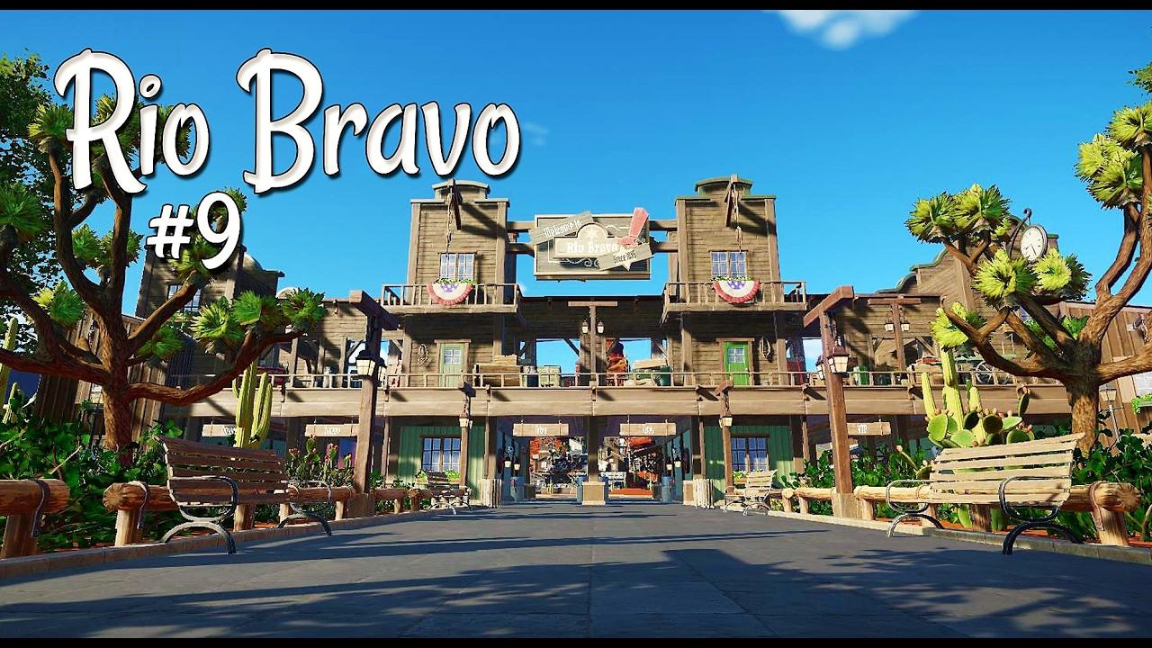 Planet coaster western rio bravo ep 9 park for Plante western
