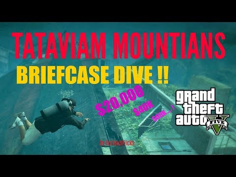 GTA V  TATAVIAM MOUNTAINS BRIEFCASE DIVE -  $20,000 !!   HIDDEN PACKAGES #7