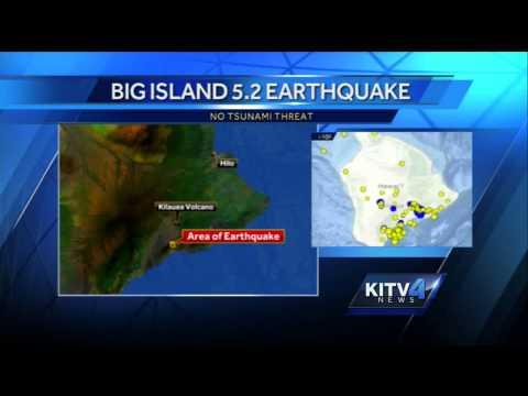 5.2-magnitude earthquake hits Big Island
