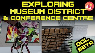 Exploring Decentraland BETA: Museum District and Conference District