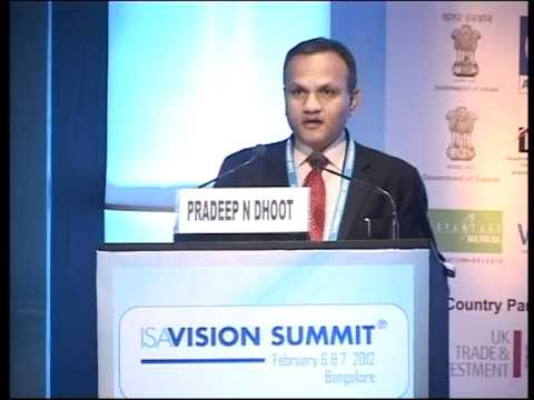 Isa vision summit 2012 pradeep n dhoot group president for Vision industries group