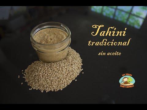 Receta Original de Tahini, sin aceites añadidos, super fácil/ Original Tahini Recipe