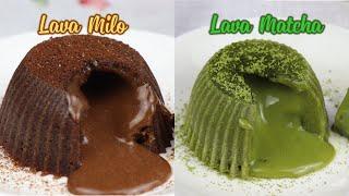 Bánh Lava Milo và Matcha tan chảy không dùng lò nướng | Milo Lava Cake & Matcha Lava Cake (no oven)