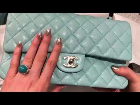 94c3f7d3dd79 CHANEL 19C TIFFANY BLUE CLASSIC FLAP UNBOXING - YouTube