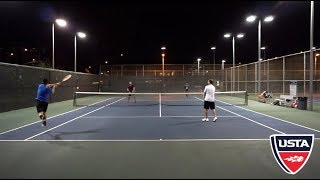 Doubles Tennis in Santa Monica - USTA 4.5 Highlights HD