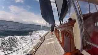 Marie, 181' Vitters sailing in the 2014 Newport Bucket Regatta.