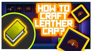 RealmCraft #GameTutorials - How to Craft Armor? (Leather Cap Crafting)
