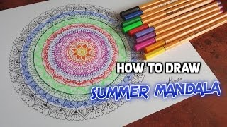 ⚓ How to draw a SUMMER MANDALA ⚓
