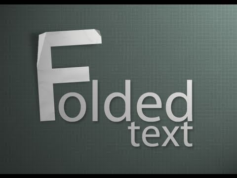 Photoshop - Realistic Folded Paper Text