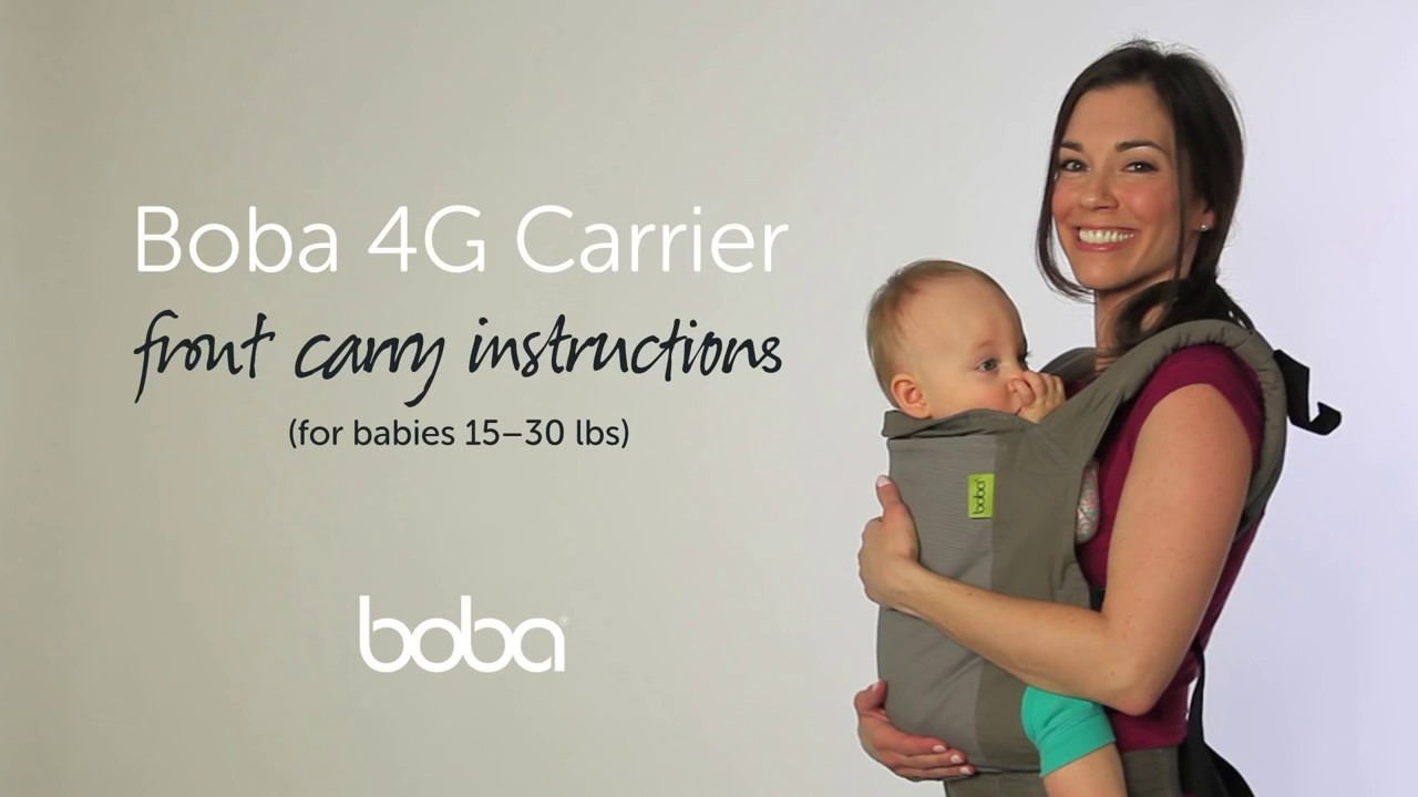 Boba 4g Carrier Front Carry Instructions Youtube