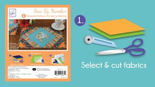 Sew By Number Placemat Step 1 - Cut fabric