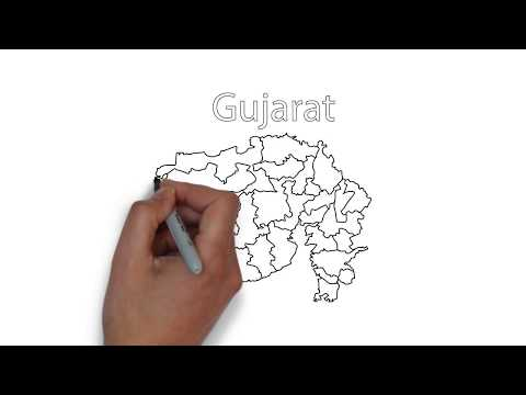 How to draw Gujarat Map
