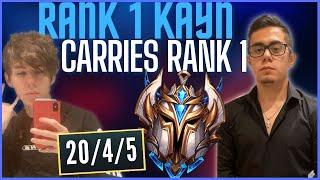 CARRYING EX RANK 1 TḞ BLADE! (20 KILLS IN CHALLENGER!) - League of Legends