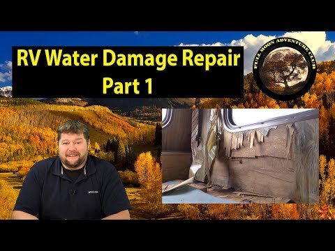 RV Water Damage Repair Part 1 - Demolition
