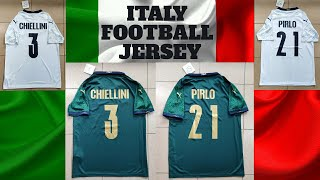 ITALY PLAYER EDITION JERSEY CHIELLINI PIRLO ITALY FOOTBALL JERSEY REVIEW EURO 2020 FOOTBALL JERSEY