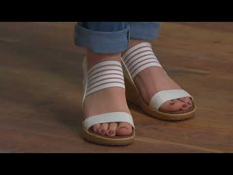 3bc754ce00cac Skechers Sling Back Stretch Wedge Sandals - Smitten Kitten on QVC ...