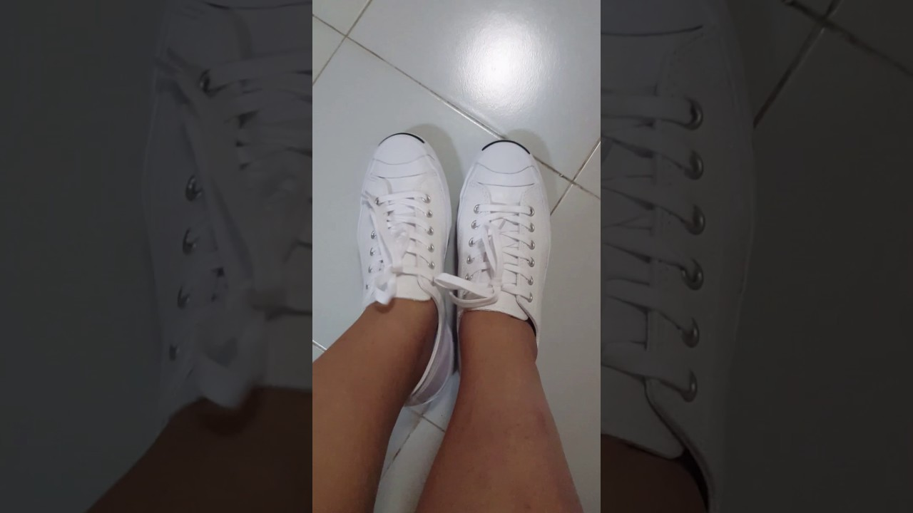 da2d232ccce Review converse jack purcell white ตอนใส่ - YouTube