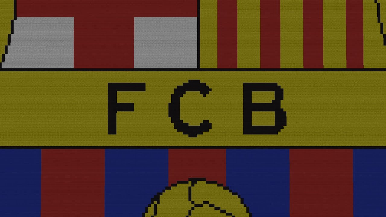 minecraft pixel art fc barcelona hd 1080i download official youtube