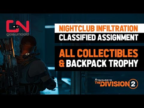 All Collectibles Tens Nightclub & New Burger Backpack Trophy - Classified Assignment - Division 2