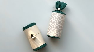높은 원통 선물포장법-Gift wrapping (High cylindrical gift box)