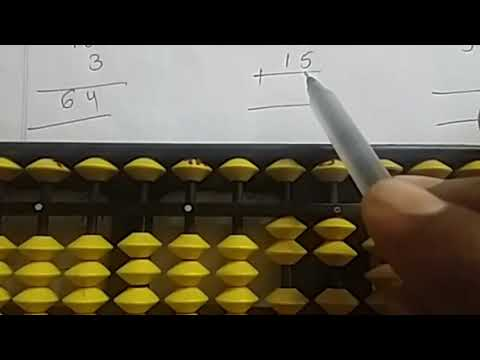 #abacus# Addition Of Two Digit Numbers On Abacus